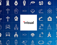 Religion icons Set by Keynote