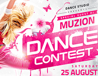 Dance Contest Flyer vol.2, PSD Template