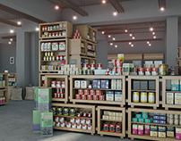 Organic food, store visualization