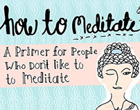 Editorial Illustration & Lettering: How to Meditate