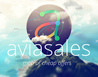 Aviasales - map of cheap offers