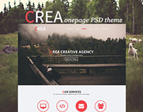 Crea OnePage PSD Template for Creative Agency
