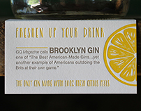 Brooklyn Gin Shelf Talkers