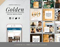 GOLDEN Theme | Social Media Pack