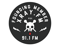 XRAY.FM Branding and Badge Design