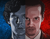 Sherlock vs Moriarty poster series