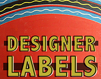"Cover page for ""Designer Labels"" article."