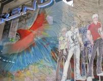 Working with Mauricio- a grafitti artist