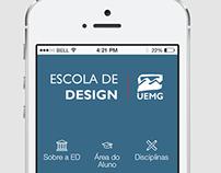 Protótipo de App para a Escola de Design/App Prototype