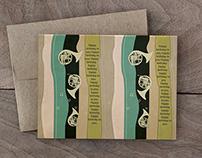 Happy Birthday Card/ Trumpet Pattern Card
