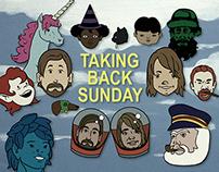 "Taking Back Sunday's ""12 Days of Christmas"" Designs"