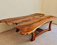 Live Edge Coffee Table In Texas Mesquite