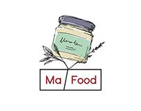 Label Design for Ma Food.