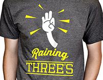 RAINING THREES shirt