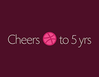 Dribbble 5th Birthday