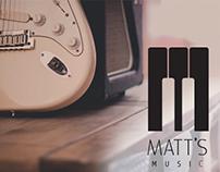 Matt's Music Rebranding