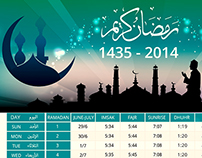 Calendar for Ramadan 1435 - 2014 Malaysia