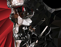 Terminator Low Poly Vector Illustration