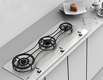 SMEG Kin Gas Cooktop