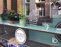 Branding and blackboard design for Bastioni Caffee