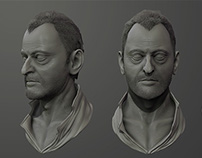 Jean Reno Sculpt Zbrush