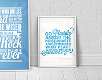 Typographic Prints