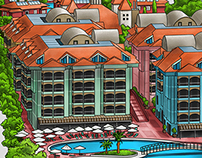 Sentido Turan Prince Hotel Info Map Illustration