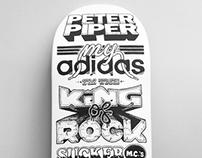 RUN DMC tribute - type skateboard