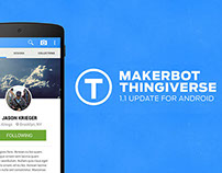 Thingiverse for Android: Version 1.1