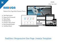 RadiSon | Responsive One Page Joomla Template