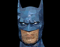 Batman Low Poly Vector Illustration