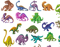 Stickers Dinosaures.