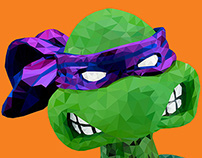 TMNT Low Poly Illustration