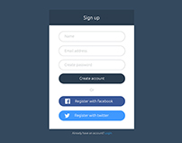 Flat UI Sign up form