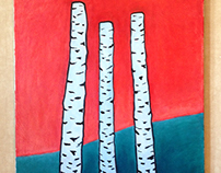 Three birches