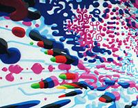 'Exuberant' mural