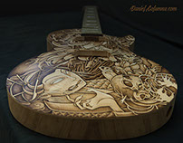 Custom Guitar Les Paul Tattoo