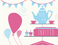 Summer Tea Party Invite