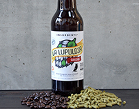 Label Design for La Lupulosa-Geisha Artesanal Beer