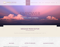 Faith Driven Magazine Website Design