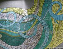 Inviting mosaic entryway