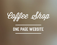 Coffee Shop - One Page Website