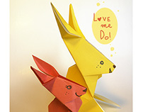 Rabbits in love: ORIGAMI project!