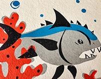 Fish-Screen Print