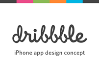 Dribbble – iPhone App Design Concept