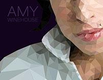Amy  low-poly portrait