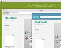 Flat Browser Display Mockup