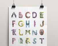 Illustrated alphabet for children