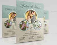 Wedding Party Flyer Template Vol.6