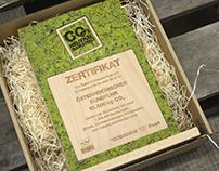 CO2 neutraler Award aus Buchenholz
